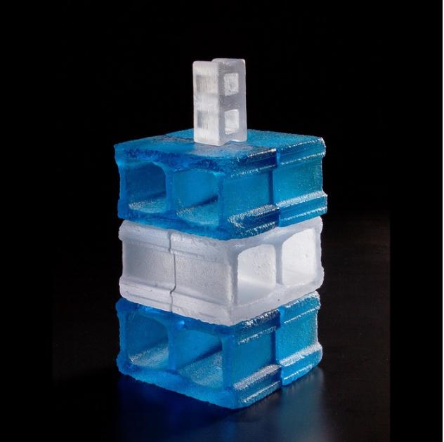 Matthew Paskiet , Wendells Reprise , 2014.  glass casting  7 x 3.5 x 3.5 in.  $1800