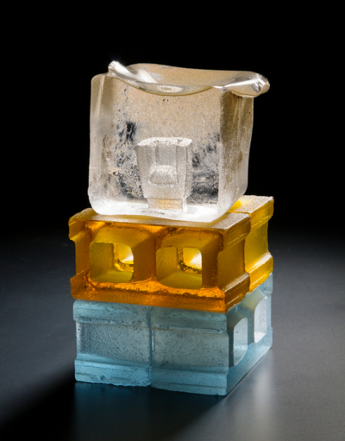 Matthew Paskiet , A Good Foundation , 2014.  glass casting  8 x 4 x 4 in.  $1800