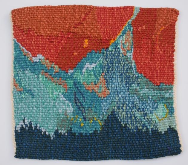 Liz Pulos, El Hielo , 2014.  cotton  6.5 x 7 in.  $250
