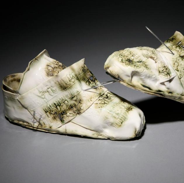Inge Roberts, walking green , 2009.  porcelain  4 x 8 x 4 in.  $850