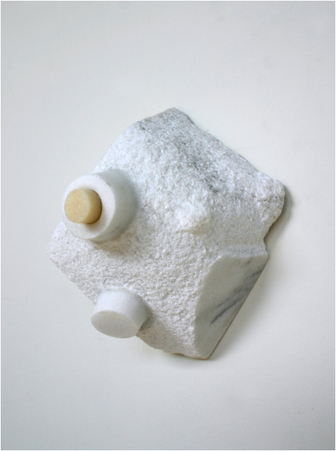 Stephanie Robison, Wall Plug , 2015.  marble  7 x 5 x 4 in.  $1800