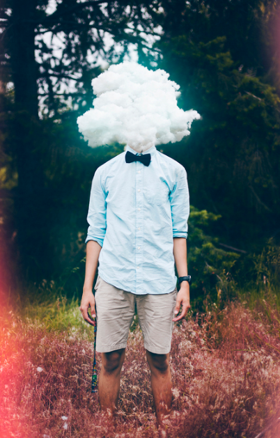 Arturo Solorio,  Head in the Clouds , 2016.  digital photography  8 x 5 in.  $90