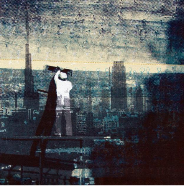 Joshua Watts, High Water Mark , 2015.  screen print  10 x 10 in.  $200