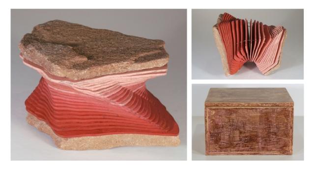 Susan Woolf,   Rockbound Book and Case: Reading Cedar Mesa  , 2015.  artist book and case  6 x 5.5 x 3.5 in.  $1500