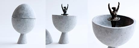 """David Bender  """"Birth of Venus,"""" 2017  sculpture  Brooklyn, NY  10""""x10""""x6""""  $750"""