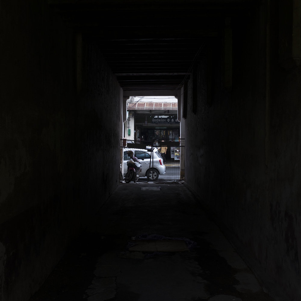 "Michael Darough  ""Alley,"" 2016  archival inkjet print  Waco, TX  10""x10""x0""  $300"