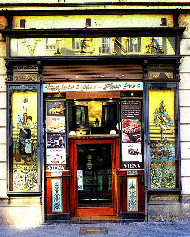 "Sara Drower  ""Viena Fast Food,"" 2017  digitized photograph  Wilmette, IL  10""x8""x0""  $100"