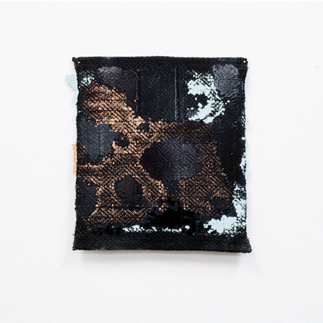 "Lily Lee  ""Putrefaction 3,"" 2017  handwoven polyester, fiberglass resin, polyester resin  Boise, ID  8.75""x8""x0""  $300"