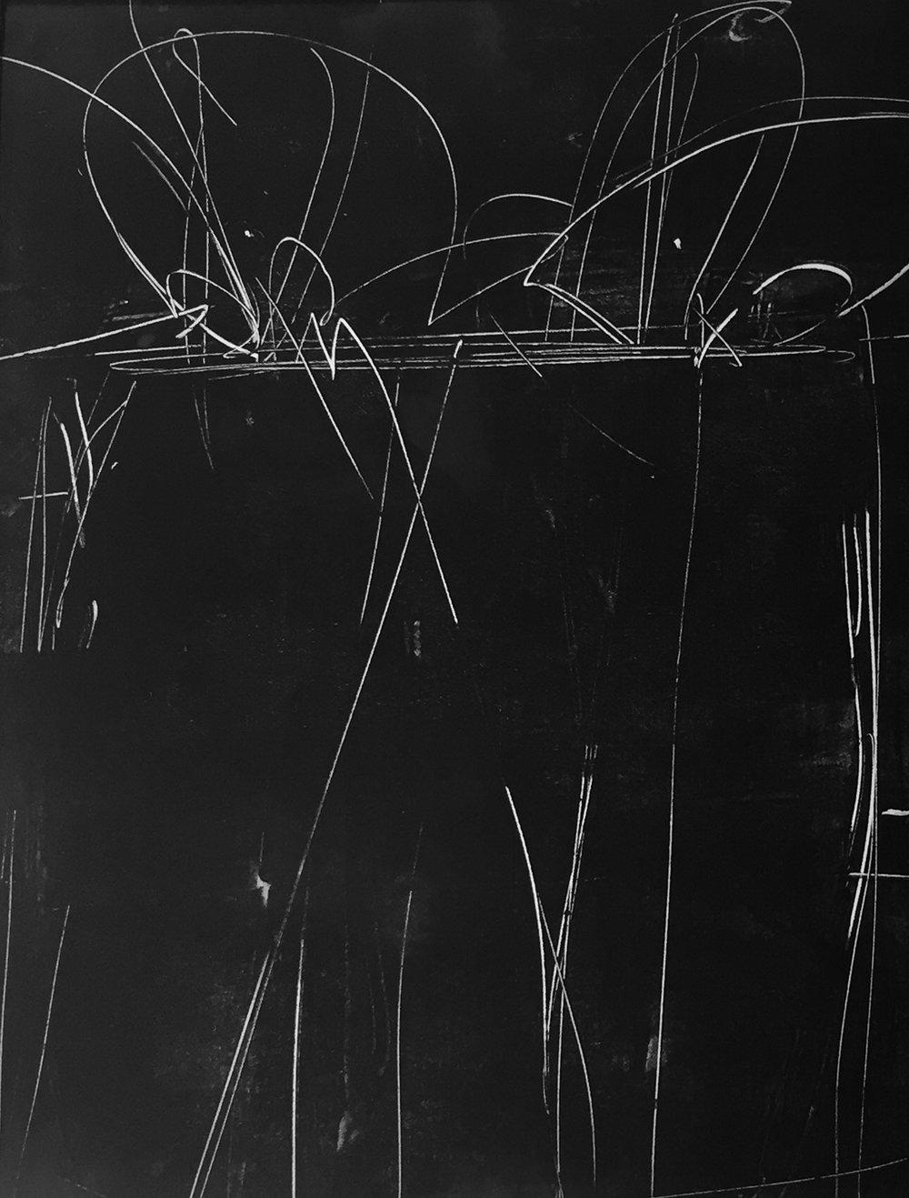 """Anita Lehmann  """"The Container,"""" 2017  monotype  Seattle, WA  12""""x9""""x0""""  $500"""