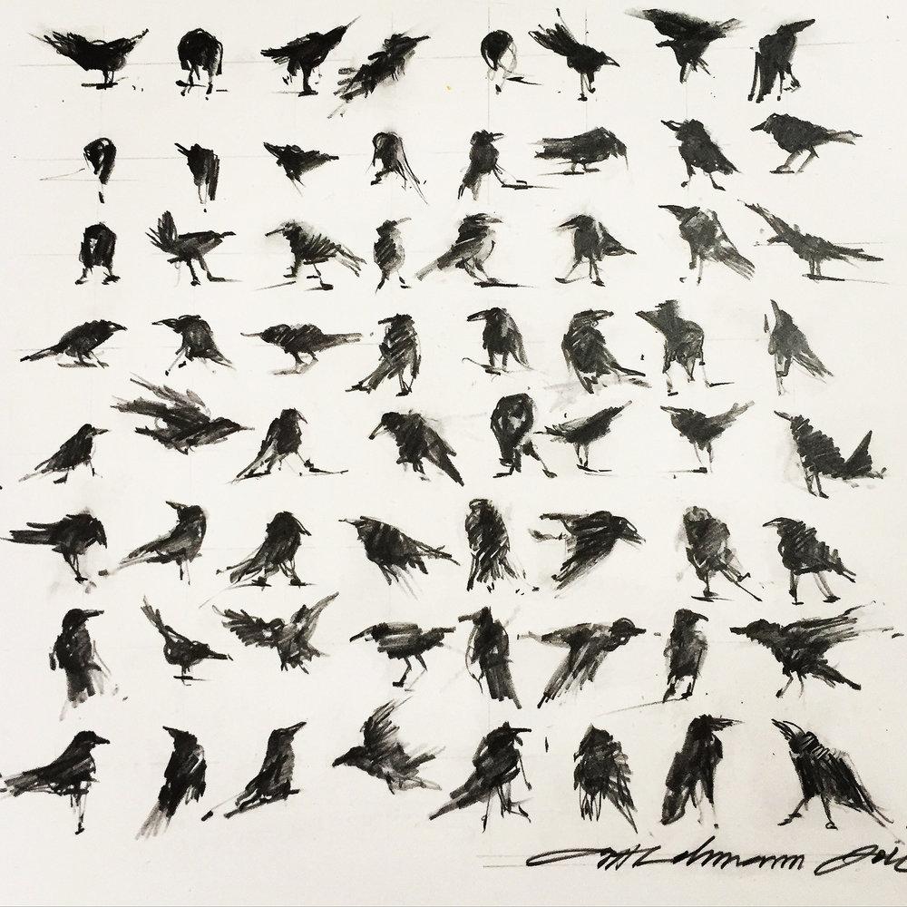 """Anita Lehmann  """"Dance Positions,"""" 2016  graphite on paper  Seattle, WA  10""""x10""""x0""""  $500"""