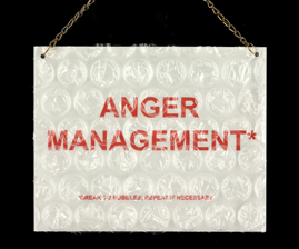 "Sharon Leong  ""Anger Management,"" 2014  metal, bubble wrap  San Francisco, CA  8""x10""x0""  $100"