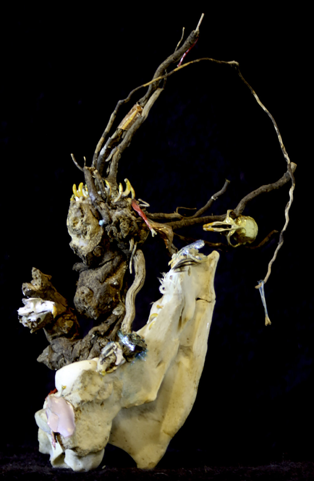 "Liz Snair  ""Gnarly 1,"" 2017  found object sculpture  Kent, WA  9""x6""x5""  $250"