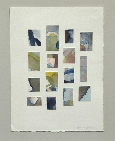 "Ana Alvira  ""Terrains,"" 2016  watercolor/collage  Seattle, WA  6""x4.5""x0""  $500"