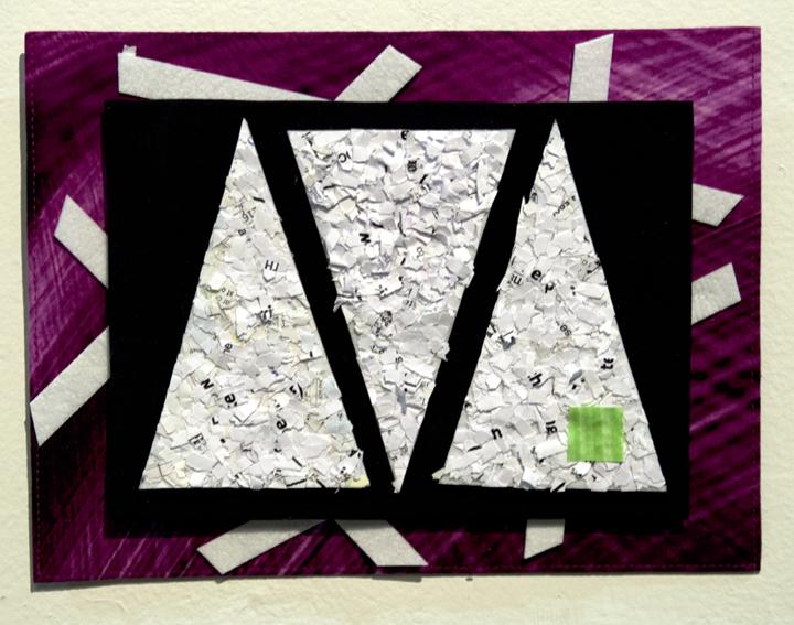 "Judith Gunter  ""The Unconventionalist,"" 2017  textile/fiber  Chestertown, MD  7.5""x10""x1""  $115"