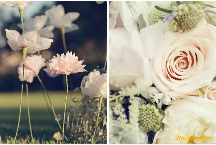 diy paper flowers, shewanders photography, san diego wedding photography