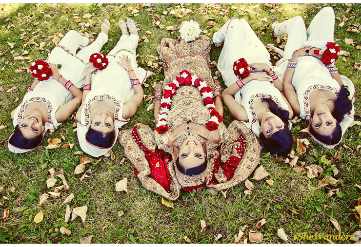Indian Red Florals, Bridesmaids, Shewanders Photography, San Diego Wedding Photography,
