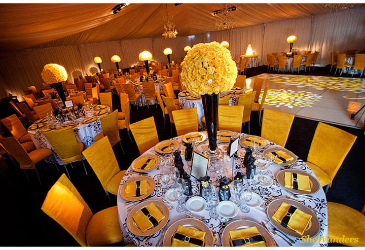 Modern Yellow Flowers, tony gwynn, shewanders photography, san diego wedding photography