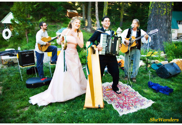 bride and groom playing with band, San Diego Wedding Photography, SheWanders Wedding Photography