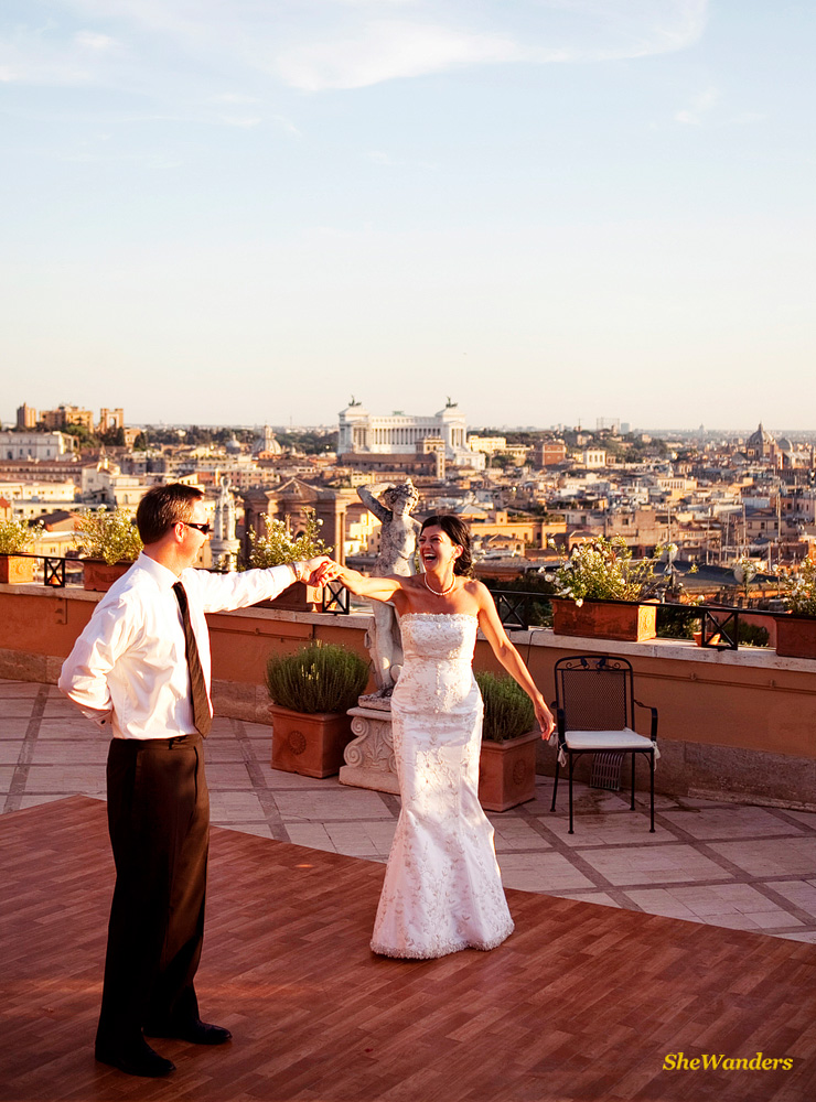Dancing in Rome, San Diego Wedding Photography, SheWanders Wedding Photography
