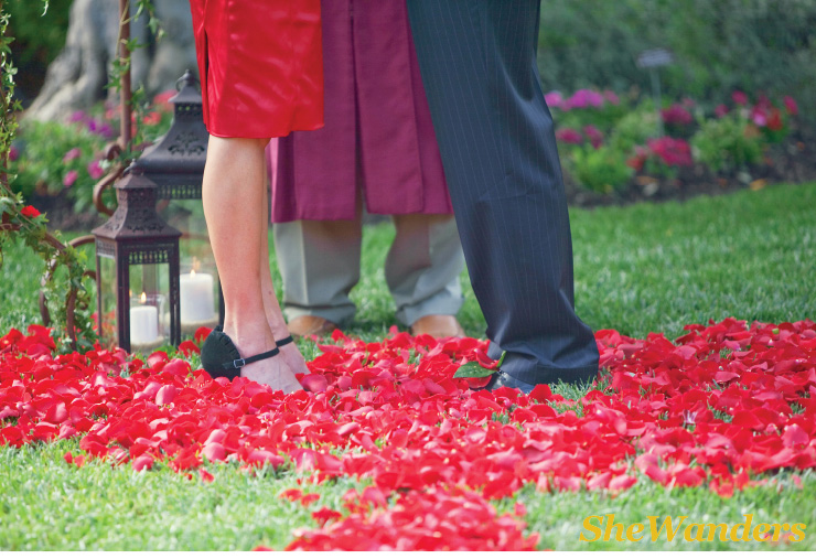 flower petals and feet, San Diego Wedding Photography, SheWanders Wedding Photography