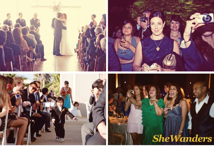 the prado, japanese friendship garden, MCA La Jolla, Scripps Forum, shewanders photography, san diego wedding photography, guests taking pictures