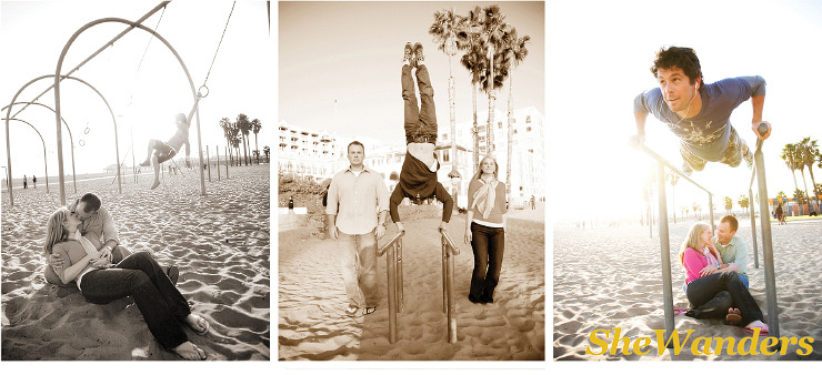 muscle beach, santa monica, shewanders photography, san diego wedding photography,