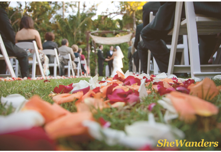 san diego wedding photography, swannsoirees, petals in the aisle, paradise point