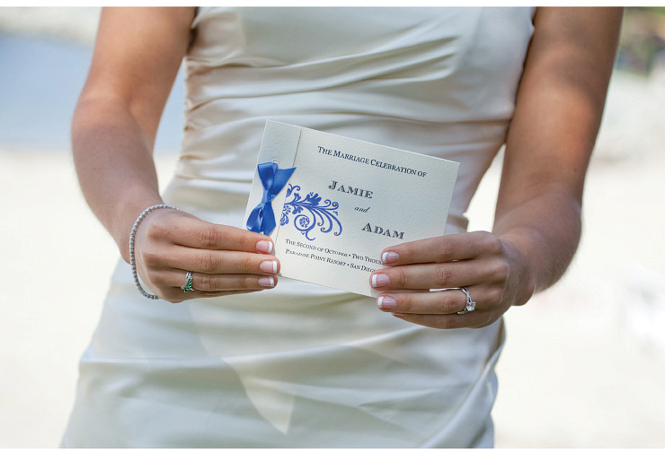 san diego wedding photography, swannsoirees, blue wedding invitation, paradise point