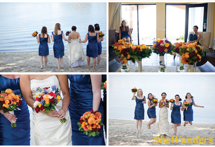 san diego wedding photography, swannsoirees, blue bridesmaids dresses