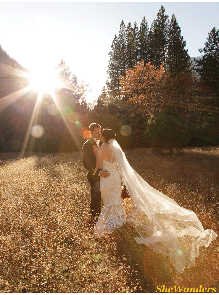 shewanders photography, san diego wedding photography, yosemite bride, amazing sun flare