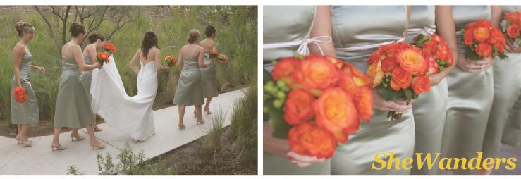 estancia la jolla wedding, san diego wedding photography, orange florals