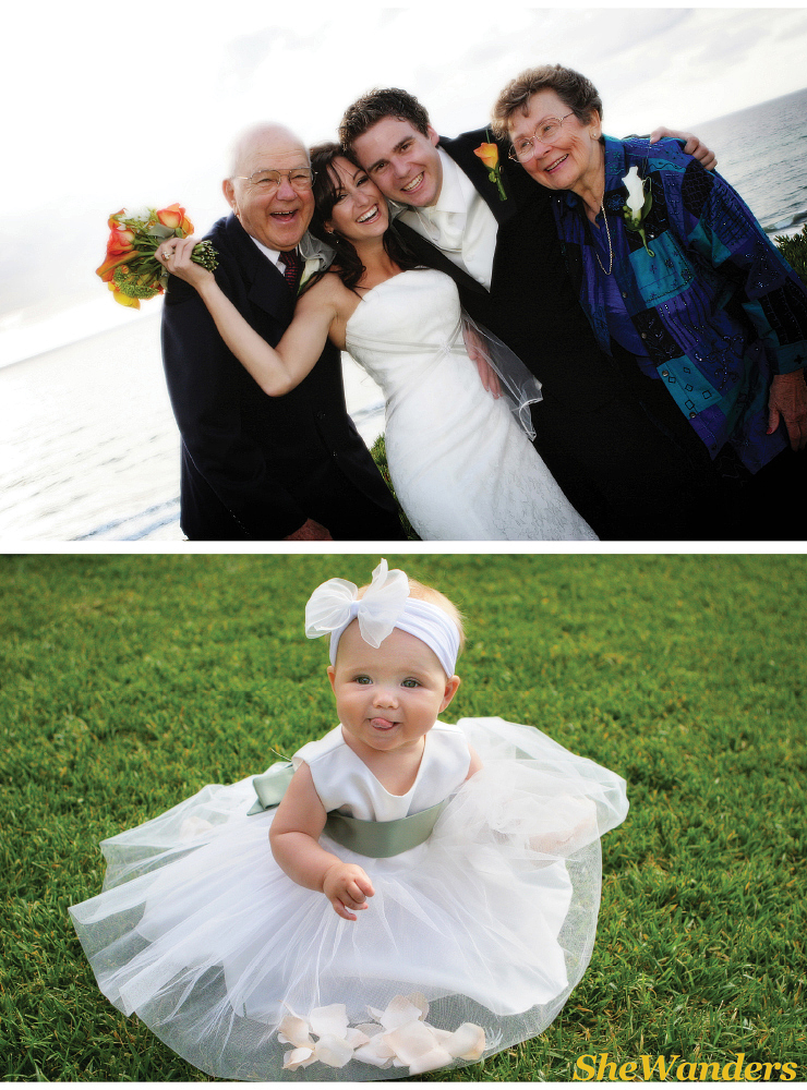grandparents wedding picture, flower girl, advice for brides, shewanders photography