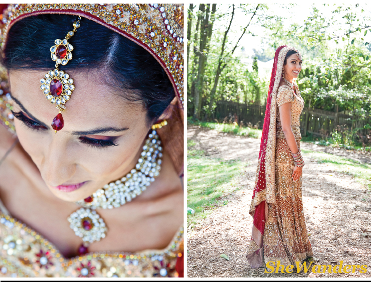 vancouver wedding photography, indian wedding photography, shewanders.com, beautiful indian bride