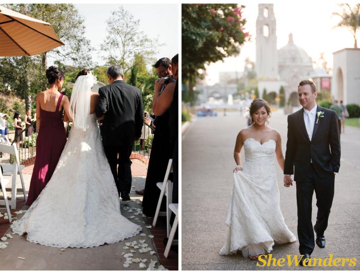 bride and groom, san diego wedding photography, balboa park wedding photography, the prado, stylish attire