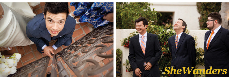 la jolla wedding photography, shewanders wedding photography, darlington house, groomsmen laughing