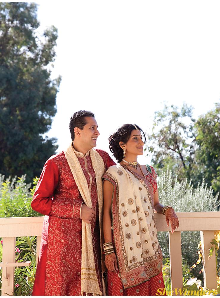 red indian dress, rancho bernardo inn, san diego wedding photography, san diego indian wedding photography, shewanders photography