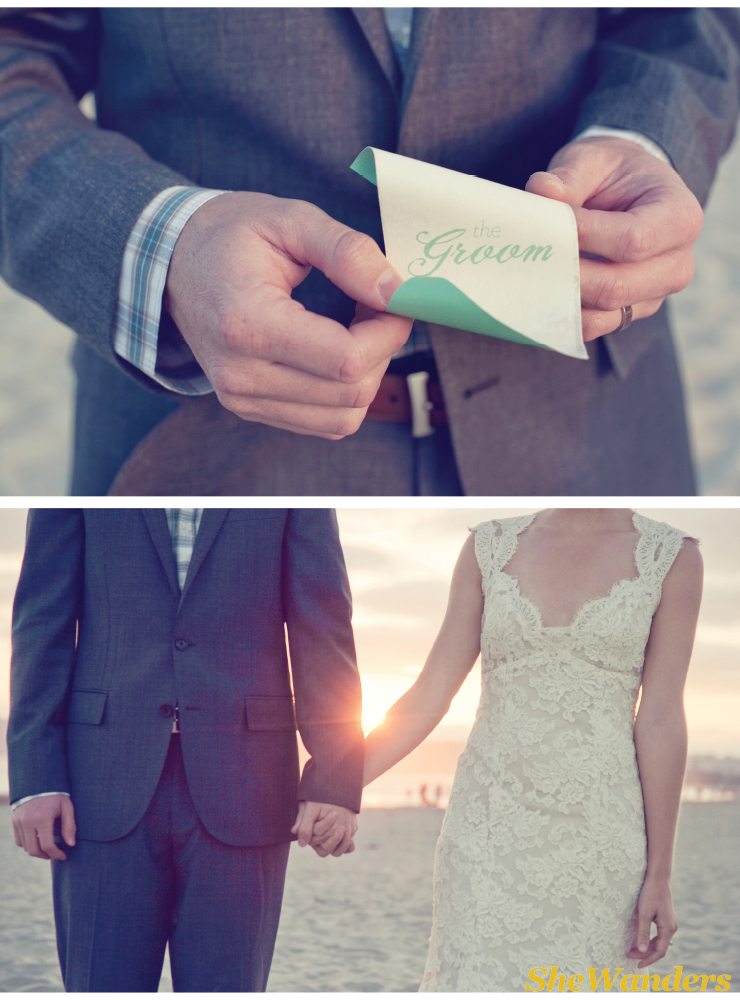 wedding placecard for groom, Shewanders Photography, Brightly Designed,