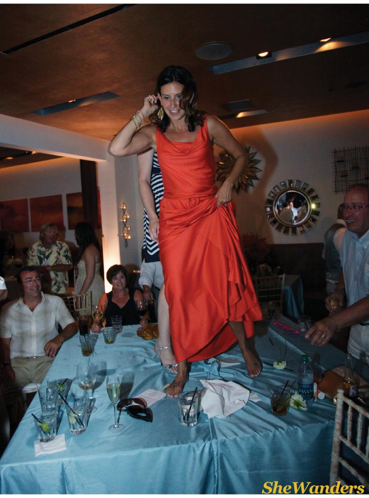 shewanders photography, dancing on the table, candelas, coronado wedding photography