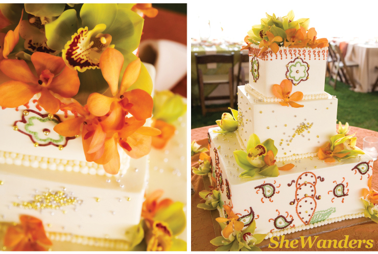 bright colorful wedding cake design, shewanders photography, san diego wedding photography