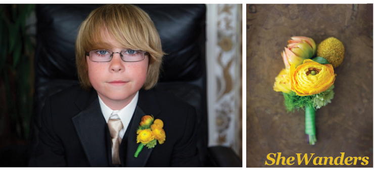 san diego wedding photography, yellow boutonnieres,  ring-bearer,