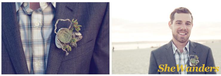 san diego wedding photography, beach boutonnieres,  beach wedding