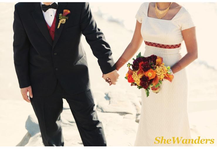 san diego wedding photography, orange boutonnieres,  indian beach wedding