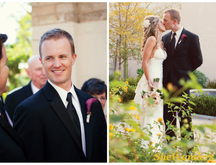 san diego wedding photography, boutonnieres,  groom, wedding kiss