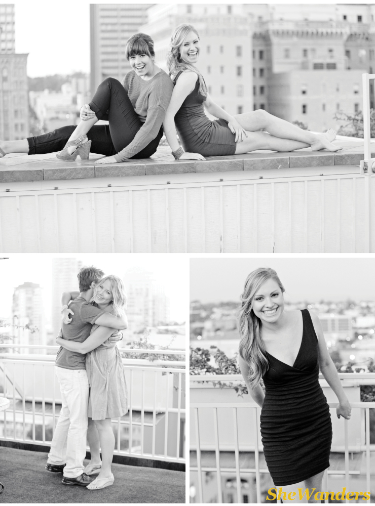 san diego wedding photography, rooftop shoot,  Hotel St. James,