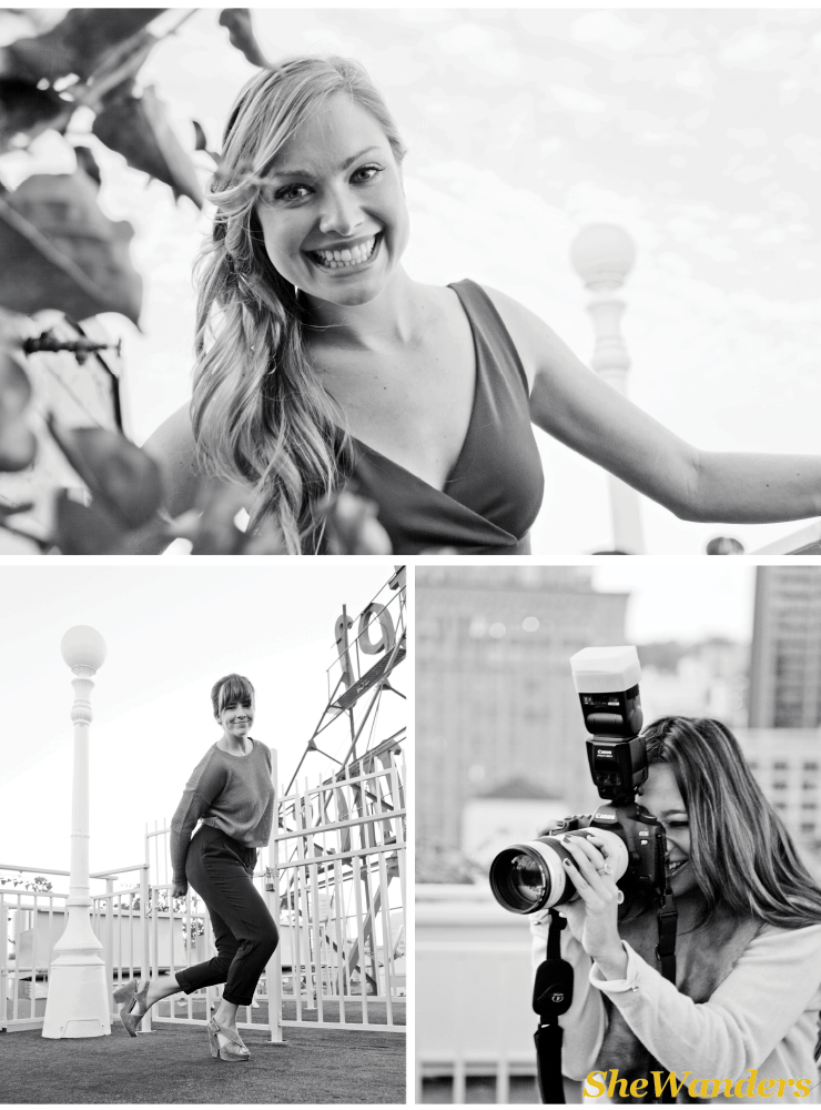 san diego wedding photography, rooftop shoot, camera, black and white