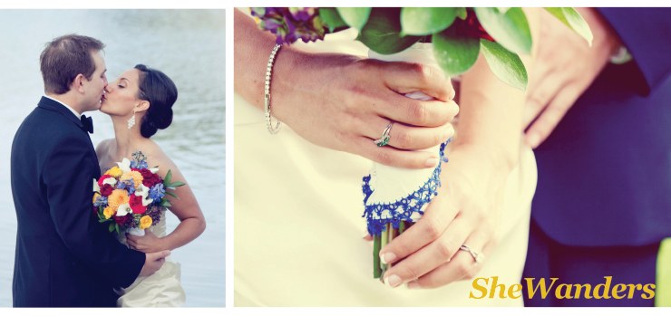 san diego wedding photography, wedding ring, bouquet, tennis bracelet, kiss, custom handkerchief, blue lace