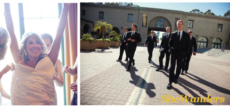 bride getting dressed, san diego wedding photography, shewanders photography, the prado balboa park