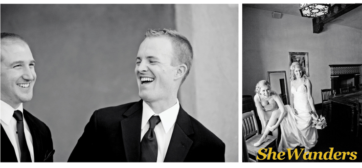 black white, groom laughing, san diego wedding photography, shewanders photography, the prado balboa park