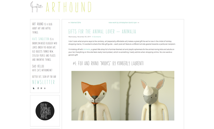 great gifts for animal lovers, http://arthound.net/2011/11/gifts-for-the-animal-lover-animalia/