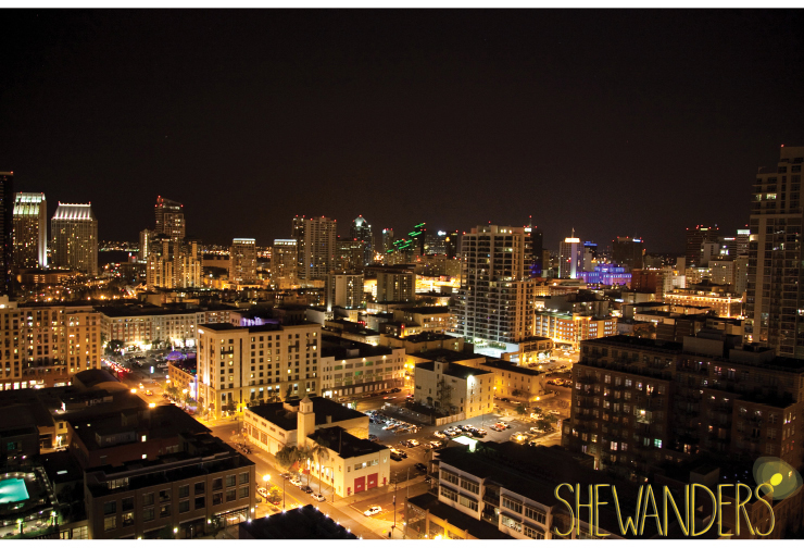 shewanders photography, san diego wedding photography, city landscape, rooftop